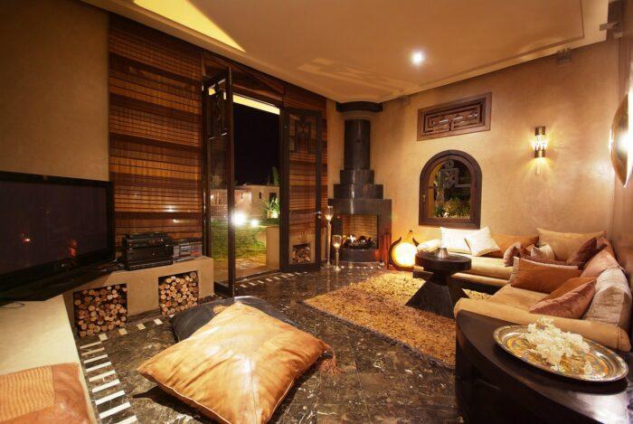 Hébergement Marrakech - Villa malika silvana salon intérieur
