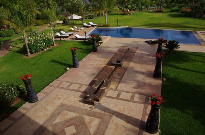 villa marrakech jardin