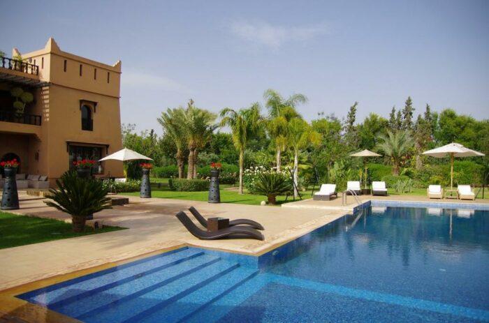 villa marrakech luxe piscine